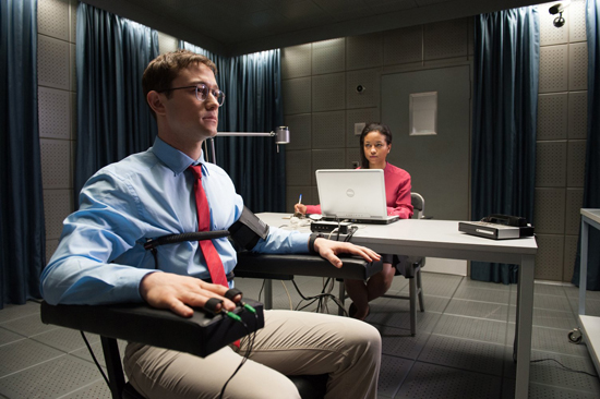 Joseph Gordon-Levitt as NSA whistle-blower Edward Snowden.