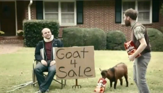 Doritos Goat Super Bowl ad - 1